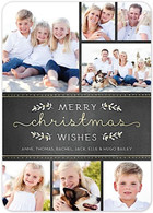Shimmering Christmas Flat Holiday Digital Photo Card