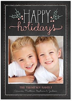 Chalkie Holidays Flat Holiday Digital Photo Card