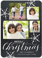 Chalkboard Snowflakes Flat Holiday Digital Photo Card