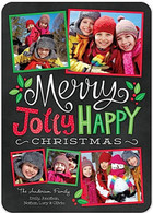 Merry Jolly Happy Flat Holiday Digital Photo Card