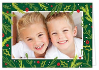 Joyful Boughs Folded Holiday Digital Photo Card