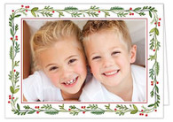 Christmas Greenery Folded Holiday Digital Photo Card