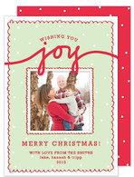 Wishing You Joy Holiday Digital Photo Card