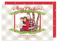Boughs of Christmas Flat Holiday Digital Photo Card