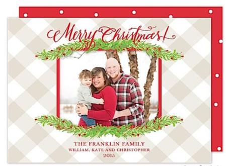 Boughs of Christmas Flat Holiday Digital Photo Card