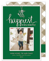 Happiest Holidays Flat Holiday Digital Photo Card
