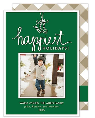 Happiest Holidays Flat Holiday Digital Photo Card