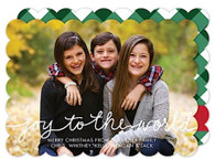 Joy to the World Flat Holiday Photo Card