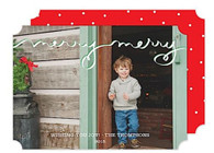 Merry Merry Flat Holiday Digital Photo Card