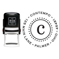 Personalized Contempo Return Address Stamp