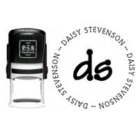 Personalized Daisy Return Address Stamp