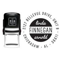 Personalized Finnegan Return Address Stamp