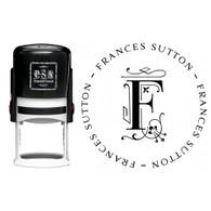 Personalized Frances Return Address Stamp