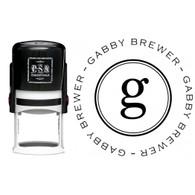 Personalized Gabby Return Address Stamp