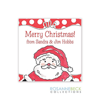 Happy Santa Holiday Gift Sticker