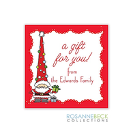 Funky Santa Holiday Gift Sticker