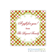 Holiday Plaid Gift Sticker