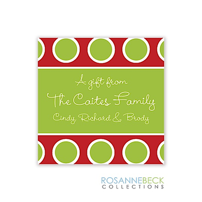 Jolly Holiday Gift Sticker