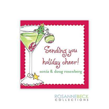 Martini Holiday Gift Sticker