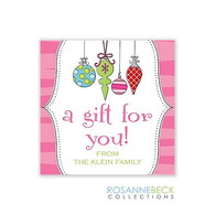 Original Ornaments Holiday Gift Sticker