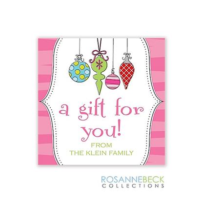 Original Ornaments Holiday Gift Sticker