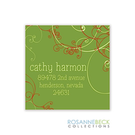Swirls Holiday Gift Sticker