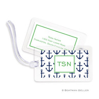 Anchors Navy Laminated Bag Tag