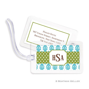 Beti Teal Laminated Bag Tag