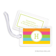 Bold Stripe Laminated Bag Tag