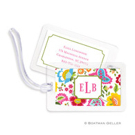 Bright Floral Laminated Bag Tag