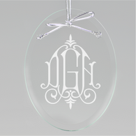 Whitlock Monogram Oval Ornament