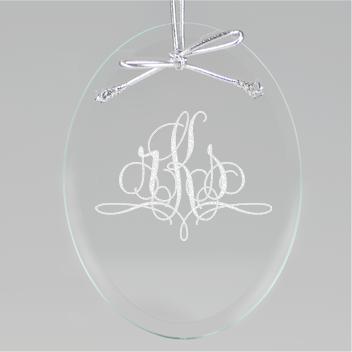 Paris Monogram Oval Ornament