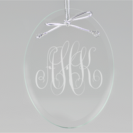 Script Monogram Oval Ornament