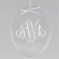 Elise Monogram Oval Ornament