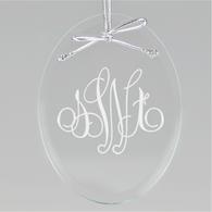 Elise Monogram Oval Ornament