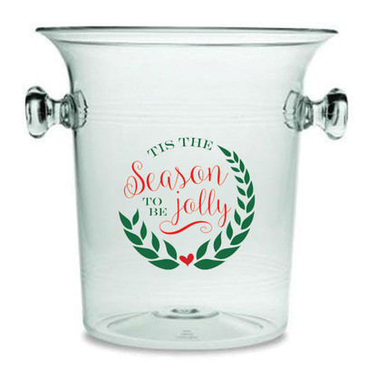 """Tis The Season Lucite Champagne Cooler"