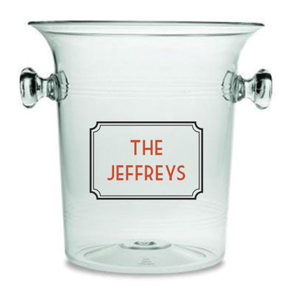 Personalized Classic Frame Lucite Champagne Cooler
