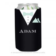 Personalized Formal Groom Koozie in Mint