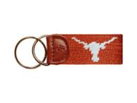 Texas Longhorn Needlepoint Key Fob