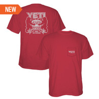 Yeti Coolers Coat of Arms Pocket T-shirt