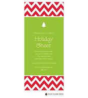Chevron Stripe Holiday Invitation