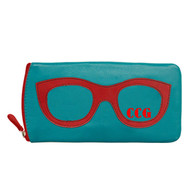 Personalized Leather Eyeglass Case