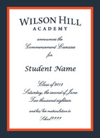 Wilson Hill Academy Graduation  Announcement