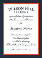 Wilson Hill Academy Graduation  Invitation