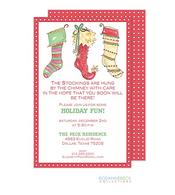 Three Stockings Holiday Invitation