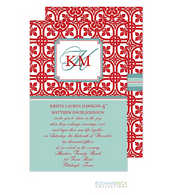 Floral Mesh Holiday Invitation