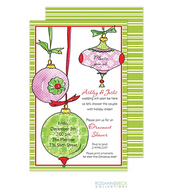Deck the Halls Holiday Invitation