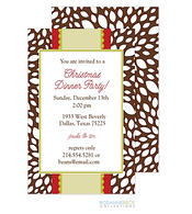 Chocolate Leaves Holiday Invitation