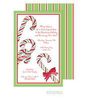 Candy Cane Holiday Invitation