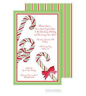 Candy Cane Holiday Invitation
